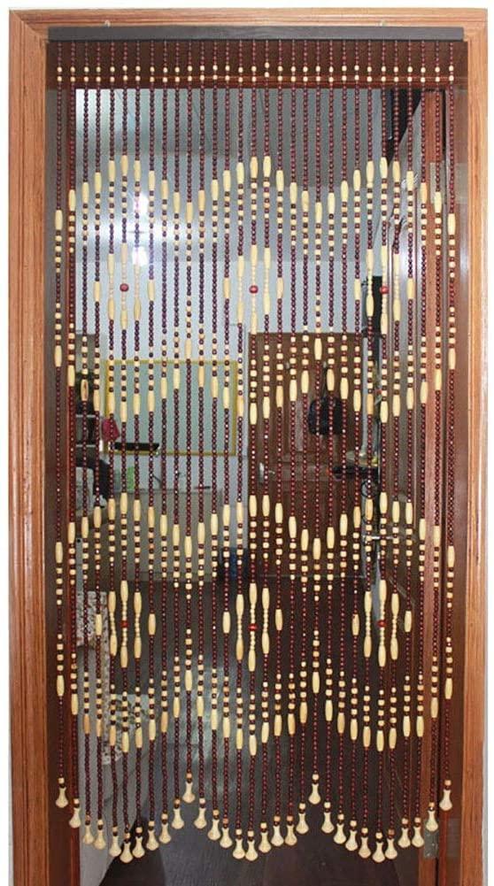 GuoWei Wooden Beaded Curtain for Doorway Passage Room Divider Decor Hanging Door Screen Rustic (Color : A, Size : 31 strands-70x180cm)