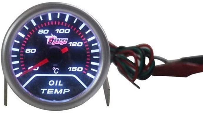 QinMei Zhou Car instrument car instrument modification oil temperature meter car oil temperature table racing modified oil temperature meter (Color : White)