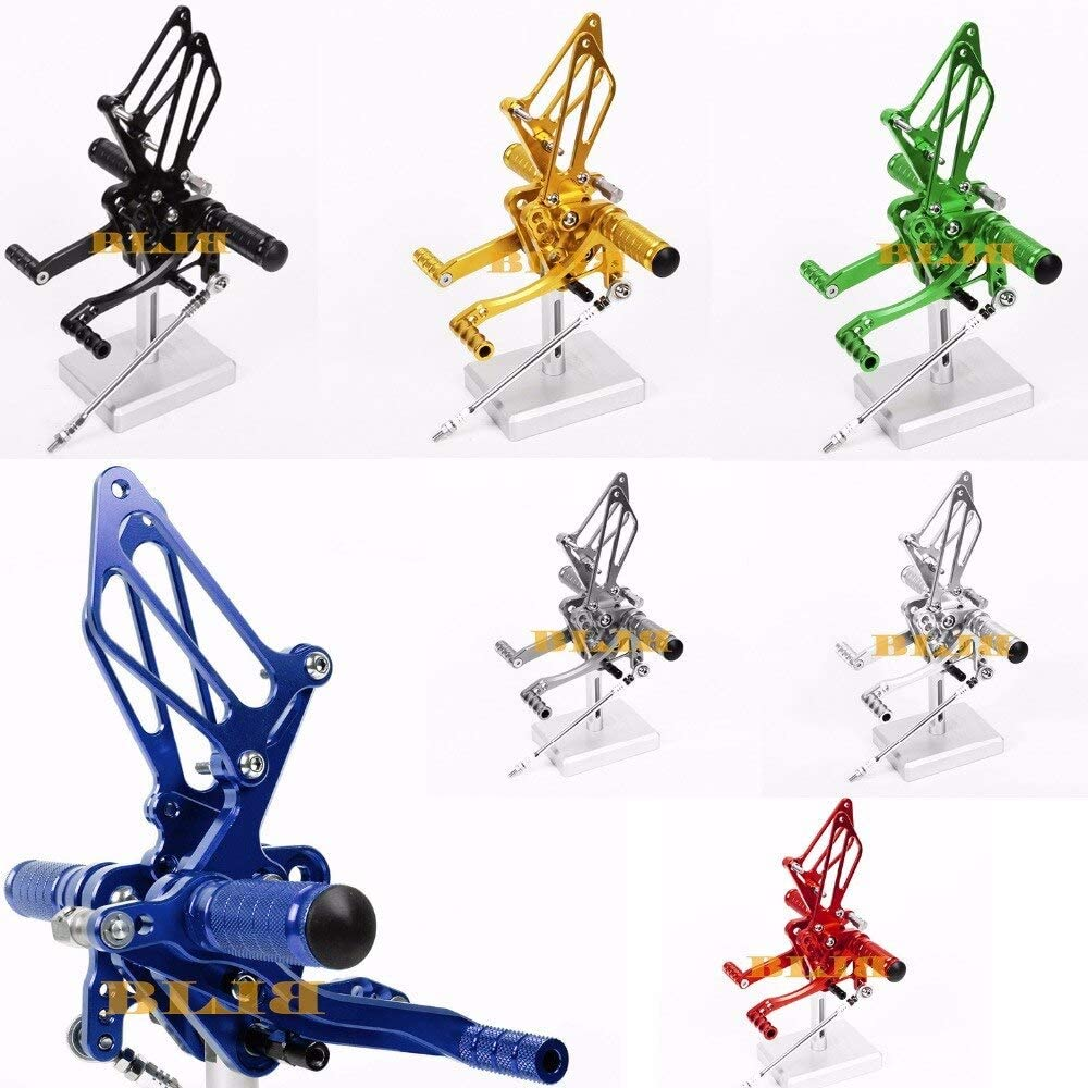 Frames & Fittings 8 Colors CNC Rearsets for Suzuki SV650 SV650S 2000-2005 Rear Set Motorcycle Adjustable Foot Stakes Pegs Pedal 2004 2003 2002 - (Color: Gold)