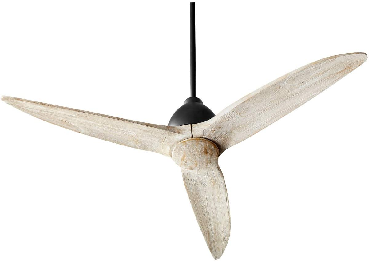 Quorum 45543-69 Transitional 54``Ceiling Fan from Larkin Collection in Black Finish, Noir