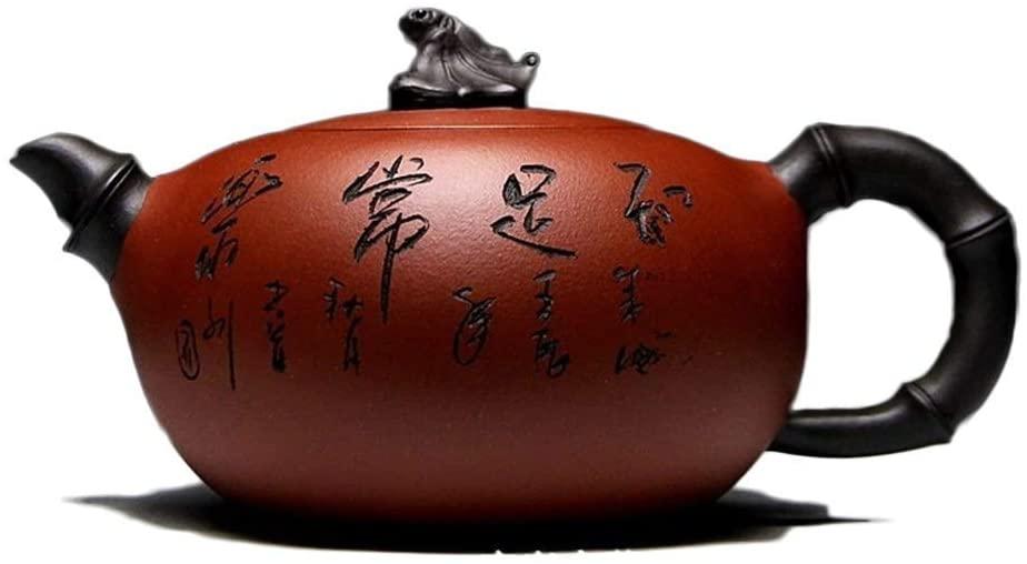 ZYL-YL Electronic Multimeter Teapot Yixing Zisha Pot Original Mine Clear Cement Handmade Blessing 370 Ml Teapot (Color : Clear cement)