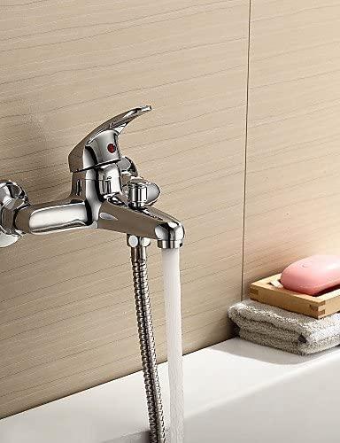 ZQ Character design style Bathtub Faucet / Shower Faucet - Contemporary Brass (Chrome)