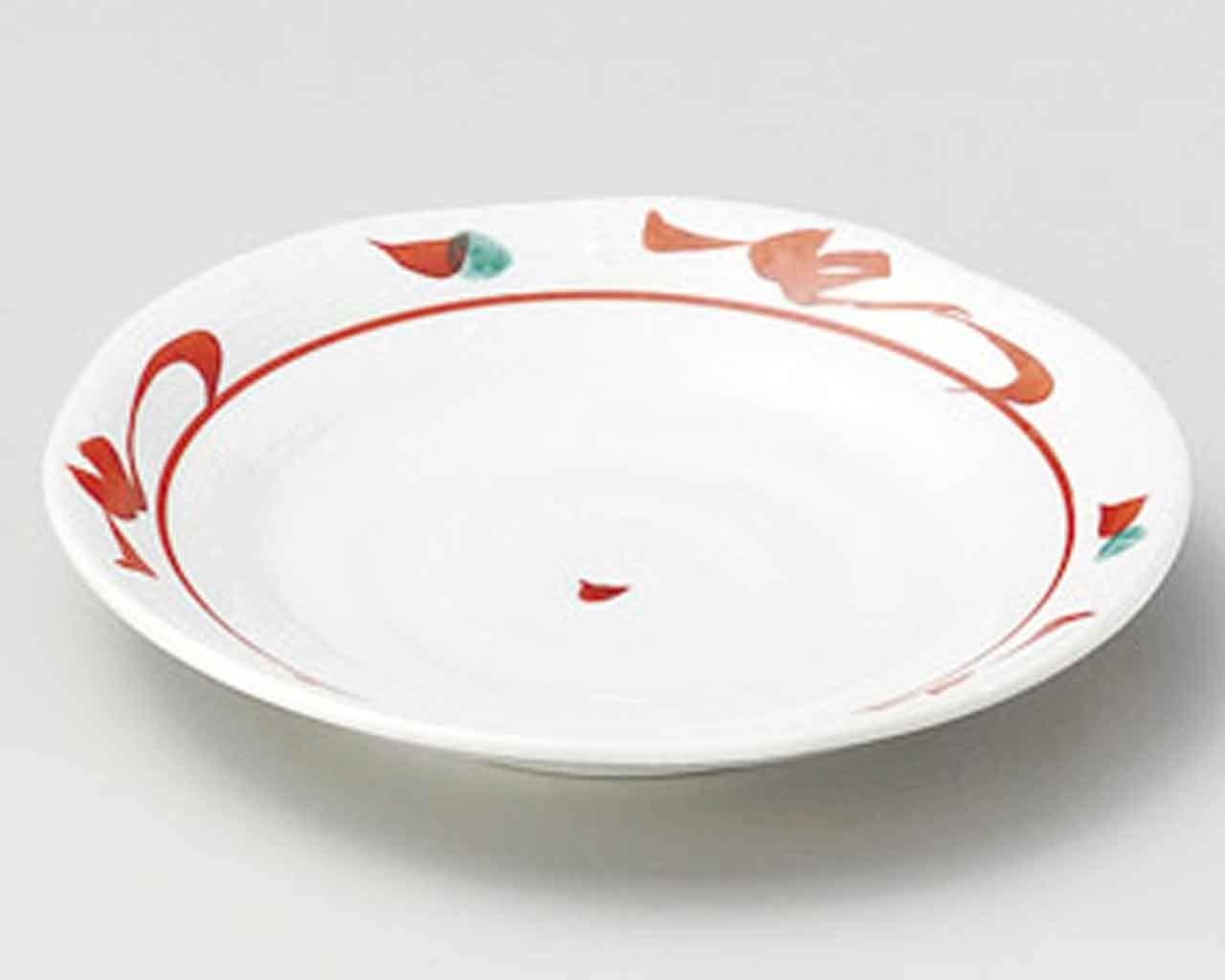 Akae Karakusa 3.9inch Set of 5 Small Plates White porcelain Made in Japan