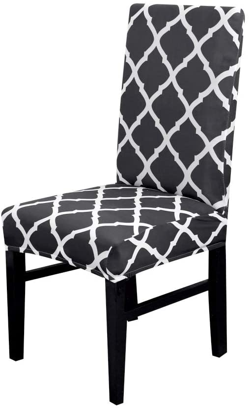 Yizitao 1/2/4/6 Pcs Geometric Print Chair Cover Dining Elastic Chair Covers Cloth Universal Stretch Multifunctional Spandex Cover Chairs 16 6pcs
