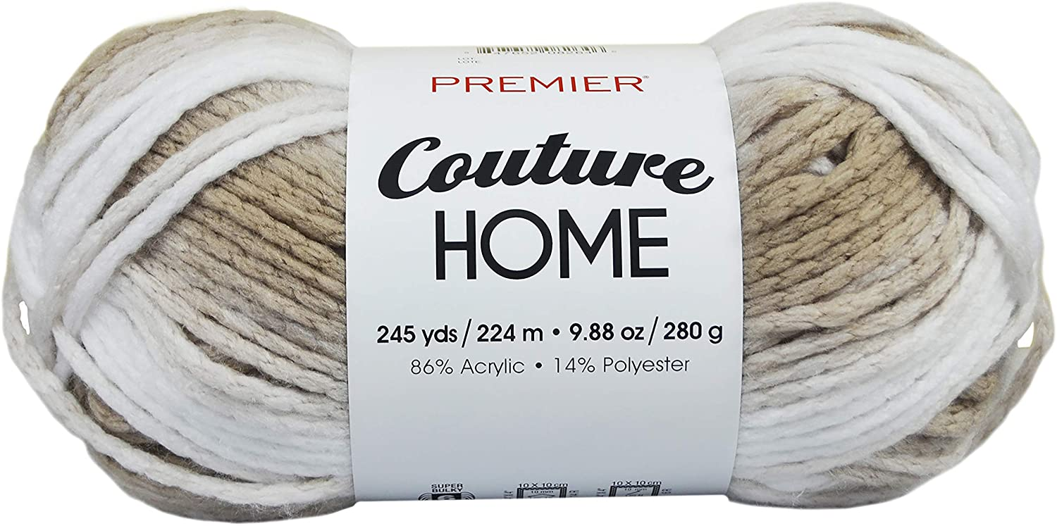 PREMIER YARNS YARN COUTURE HOME LATTE