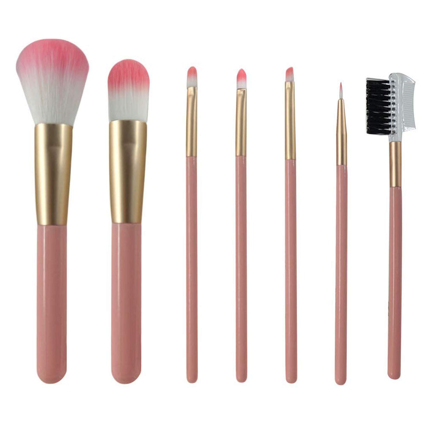 Makeup Brushes Premium Synthetic Foundation Concealers Eye Shadows Small Powder Travel Brush Pink