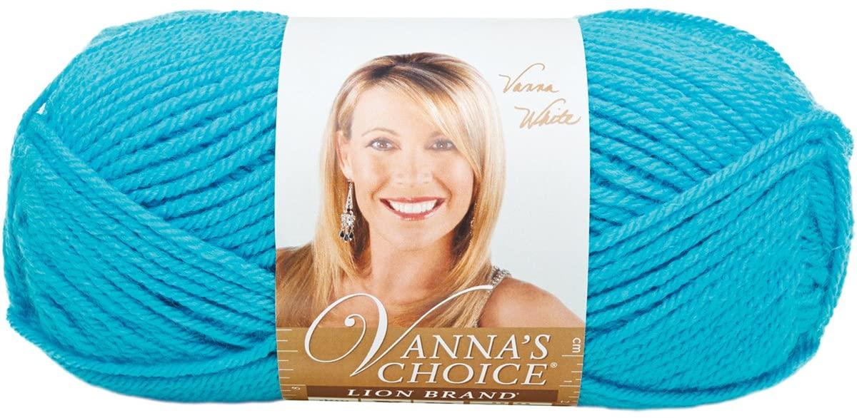 Lion Brand Yarn 860-102A Vanna's Choice Yarn, Aqua