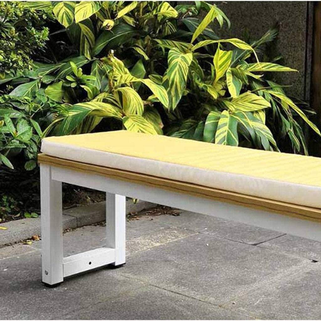 ZHI-HHA Rectangular Solid Color Bench Cushion,Outdoor Dew Director Chair Cushion Garden Swing Mat Chaise Cushion Foam Ergonomic-60355CM-B