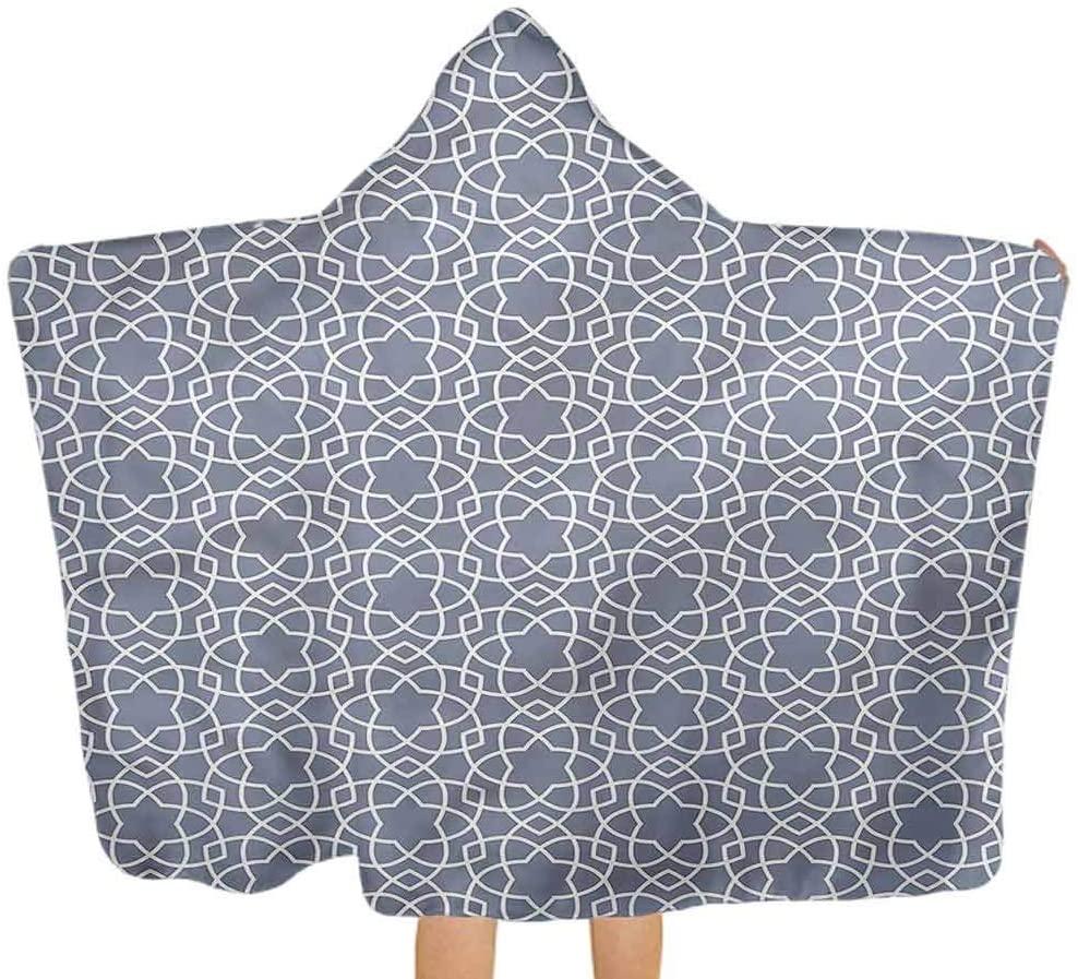 ThinkingPower Hooded Baby Towel Geometric, East Motifs Softest Hooded Bath Towel Perfect 51.5x31.8 Inch