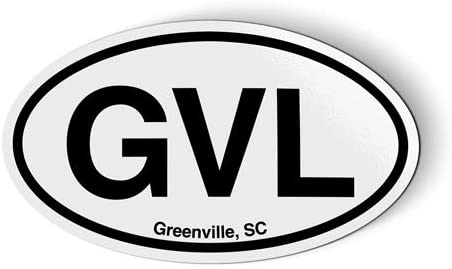 Stickers & Tees GVL Greenville SC South Carolina Oval - Car Magnet - 5