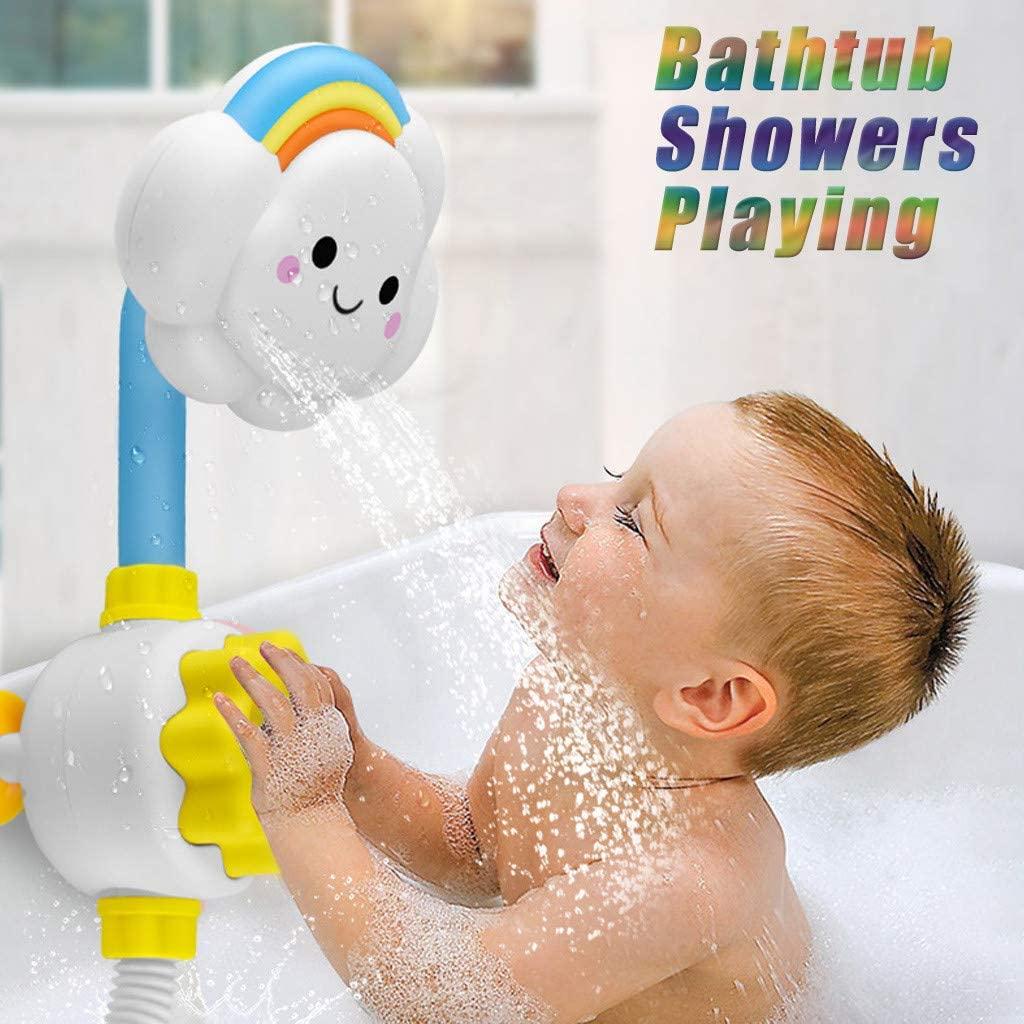 XVSSAA Baby Bath Toys, Baby Bath Shower Head, Cloud Baby Bathtub Showers Bathing Spouts Suckers Folding Spray Faucet