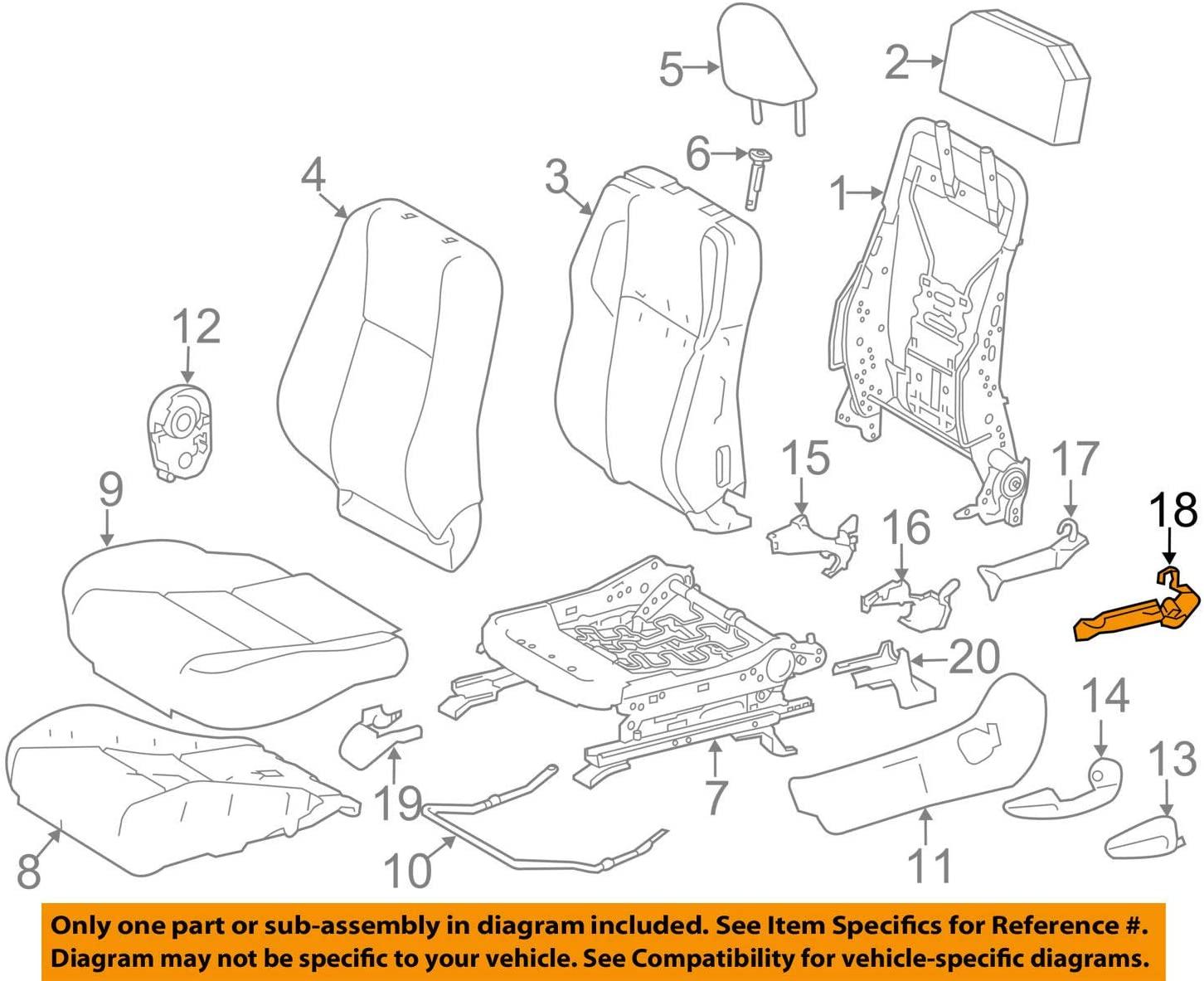 TOYOTA Genuine 71874-47040 Seat Cushion Shield