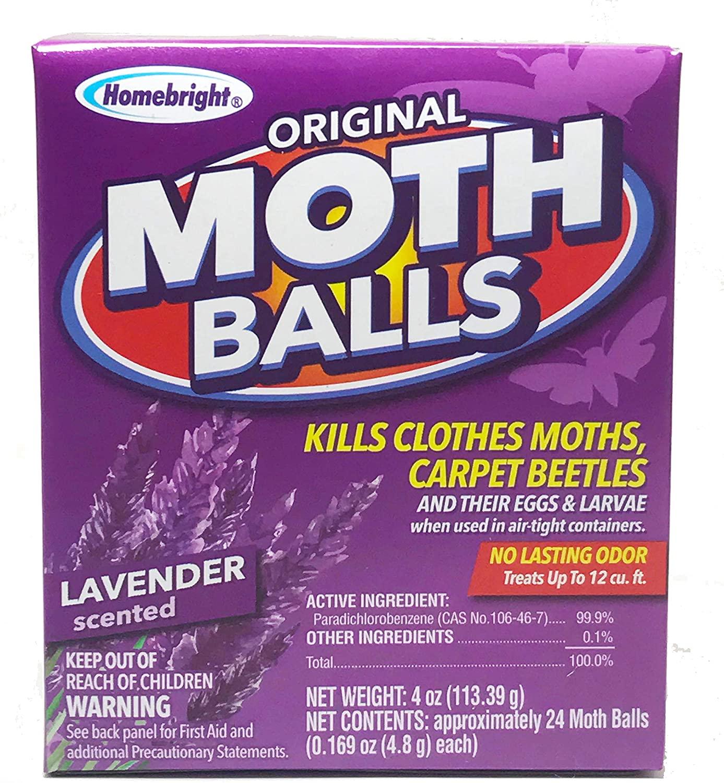 Homebright Moth Balls Lavender Scented 4oz (4pack) (4) Smells Like Lavender