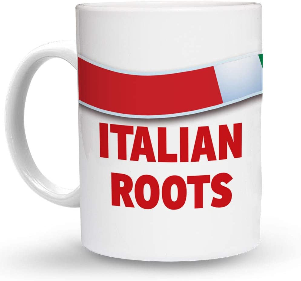 Makoroni - ITALIAN ROOTS Italy Flag 6 oz Ceramic Espresso Shot Mug/Cup Design#3