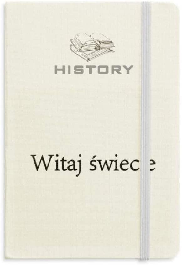 Hello World Polish History Notebook Classic Journal Diary A5