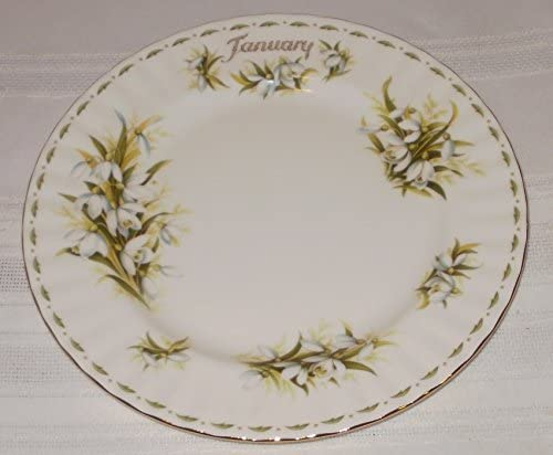 Royal Albert Flower Of The Month Collectable Teas January 8-Inch Plate