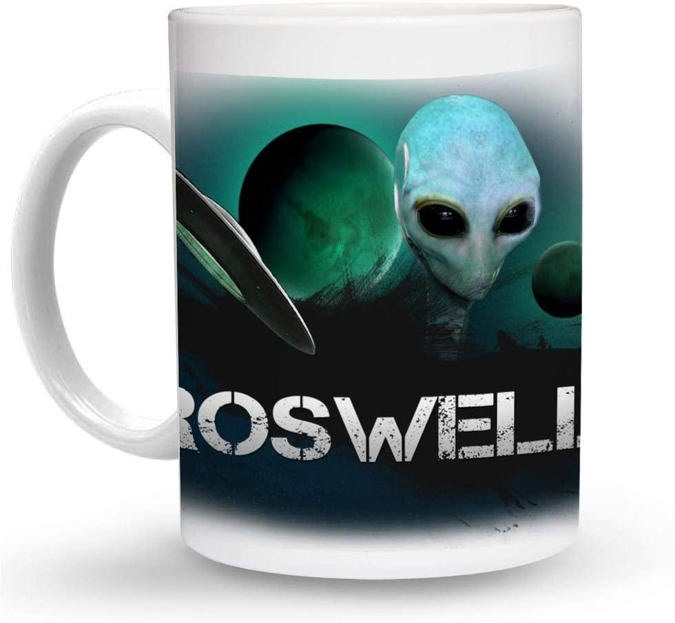 Makoroni - ROSWELL Alien UFO 6 oz Ceramic Espresso Shot Mug/Cup Design#17