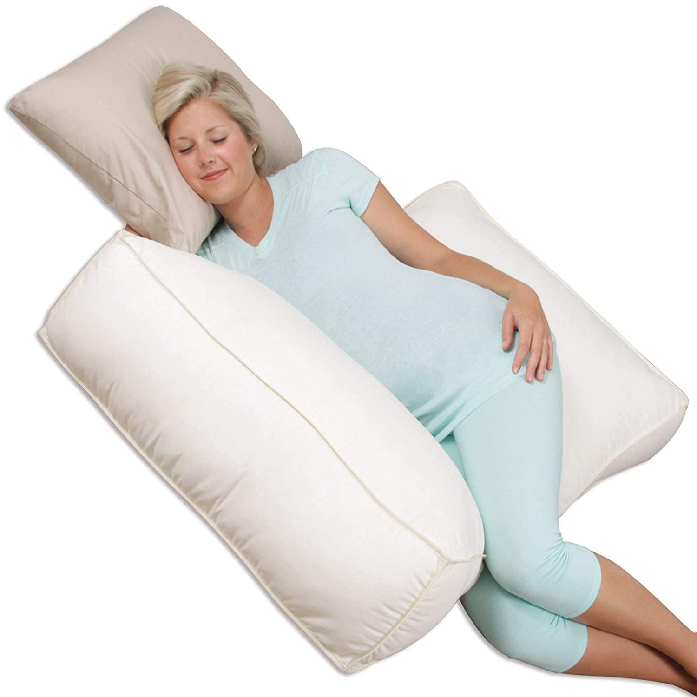 Leachco Body Double Adjustable Maternity Pillow Set, Ivory