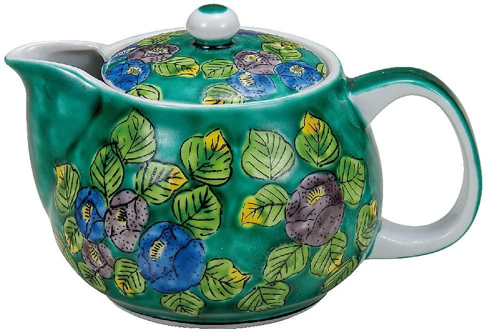 Kutani Yaki(ware) Japanese Teapot Flower (with tea strainer)
