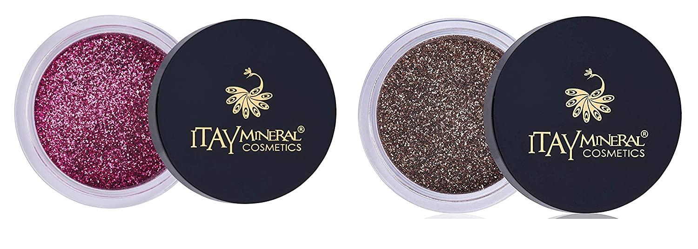Itay Mineral Cosmetics Eye Shadows Sparkle Glitter (G21 Golden Brown G25Pink Purple)