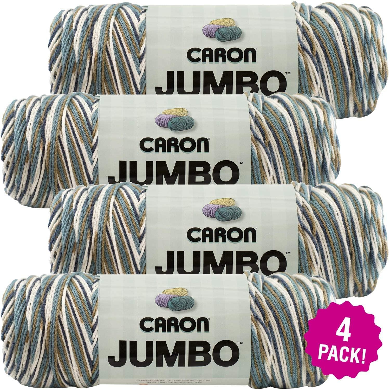 Caron Country Basket, Jumbo Print Yarn, Multipack of 4, 4 Pack