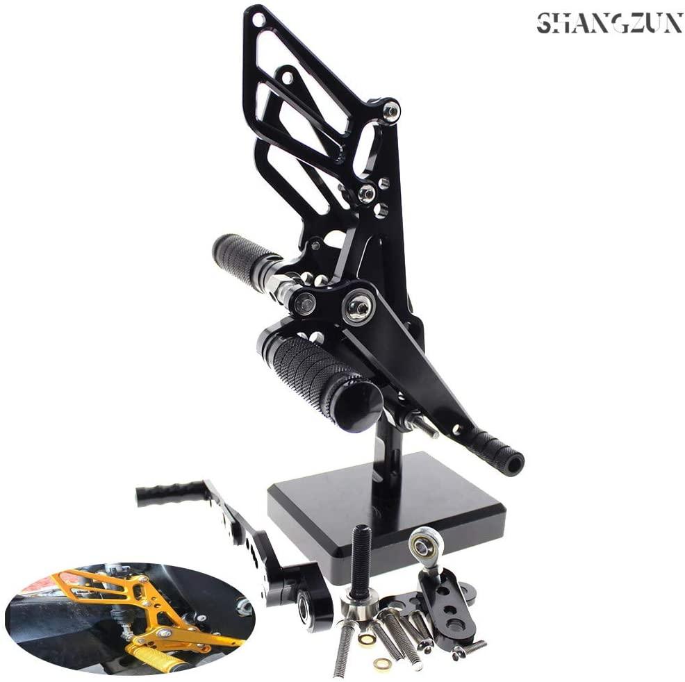 Shang Zun Fit Suzuki GSXR1000 K9 K11 2009-2020,GSXR600 GSXR750 GSXR 600 750 2011-2015 Motorbike Rearsets Foot pegs Rear sets Footrest Brake Shift Adjustable