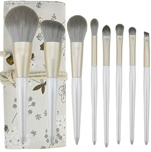 DENGZH Makeup Brush Set, 8 Professional Premium Synthetic Cosmetic Brushes for Contour Blending Powder Highlight Concealers Eye Shadows Eyebrow Kit (Size : E)