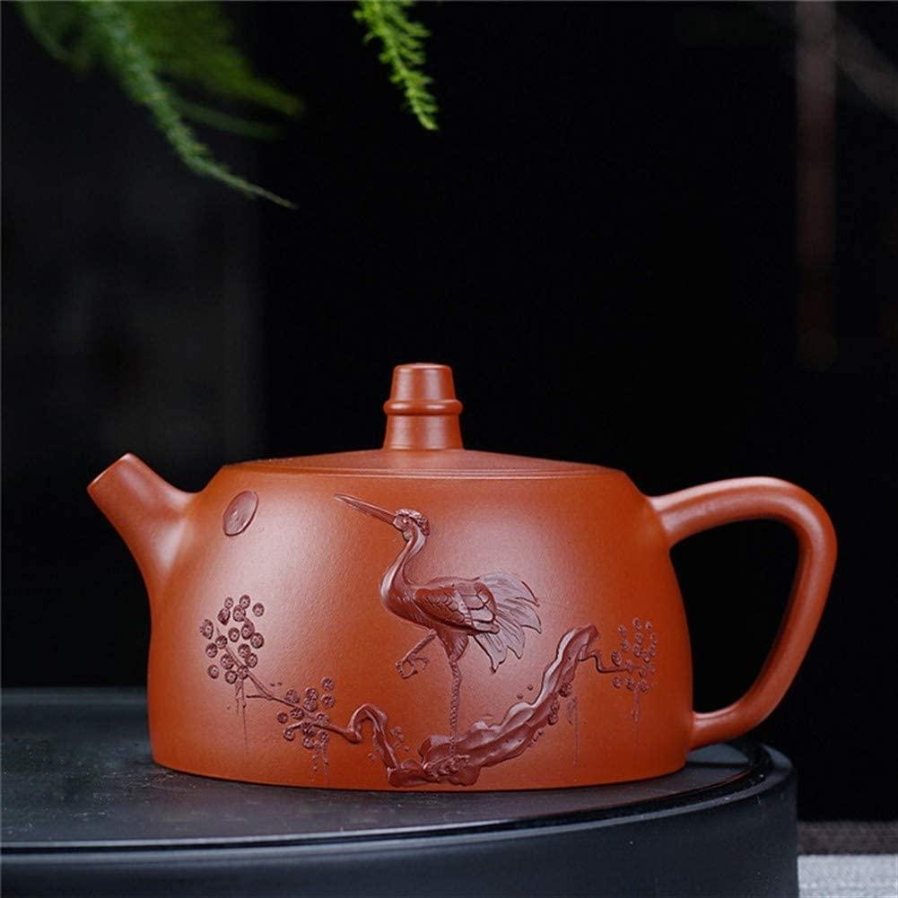 SHENLIJUAN teapot Chinese handmade teapot tea Tudor pot Zhuni (Color : Claret)