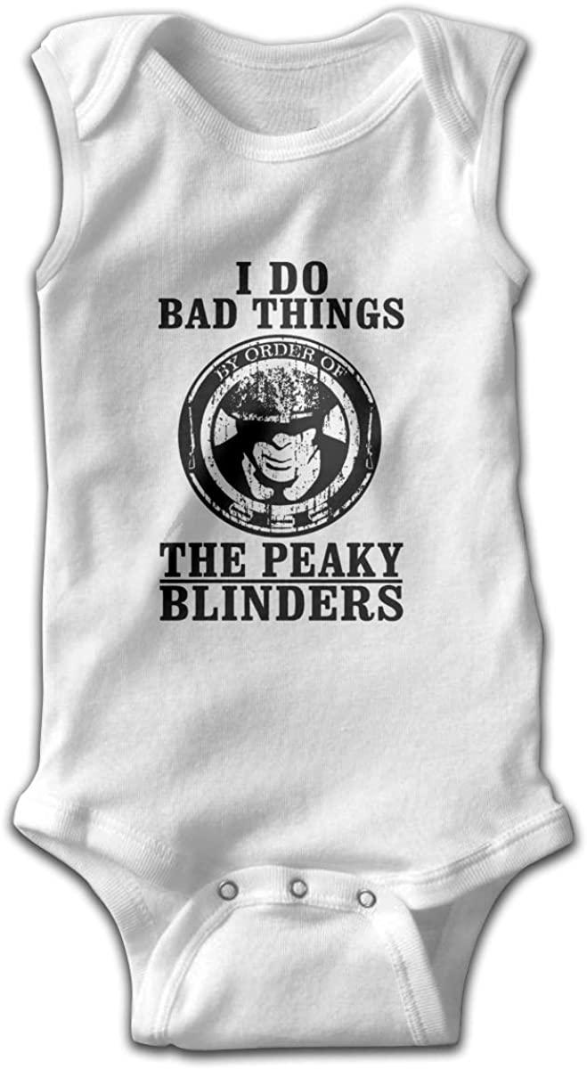 HaroldWolf Peaky Blinders Newborn Onesies Organic Sleeveless Boy Jumpsuit Undershirts