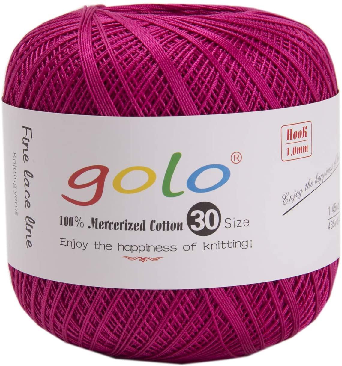 golo Crochet Yarns for Knitting Peacock Powder