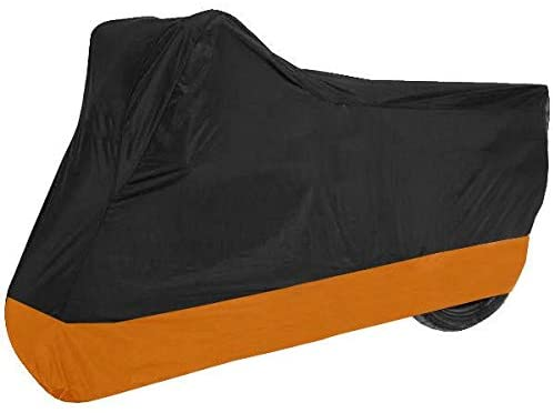 dalianda Motorcycle Cover for Honda VT 1100 / ST 1300 / Shadow UV Dust Prevention XXL Black & Orange