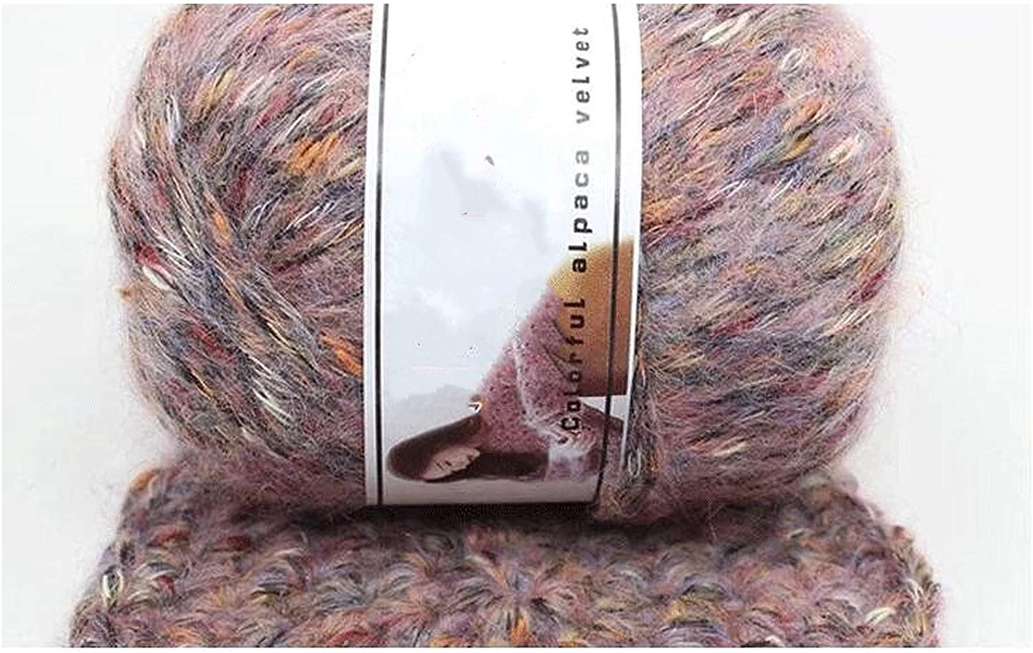 50g/Ball Thick Cashmerel for Hand Knitting Needlework Sweater Hat Laine CrochetThread Melange Knitted Yarns Lana Haak Garen,02
