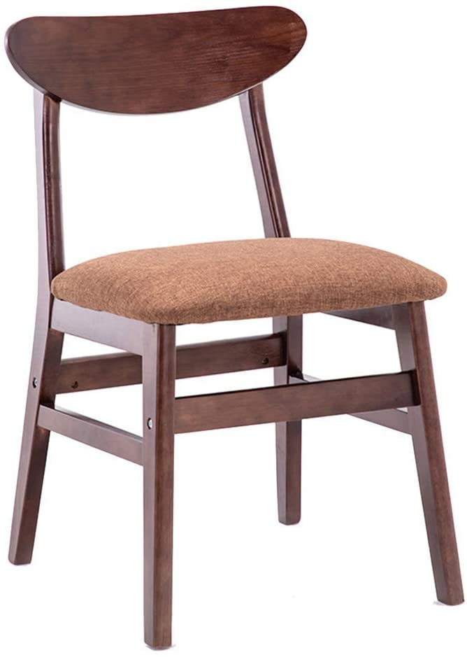 GWW Solid Wood Dining Chair, Lounge Kitchen Side Chair, Backrest Dressing Makeup Stool, Modern Nordic Desk Chair, for Office Bedroom Cafe Vanity