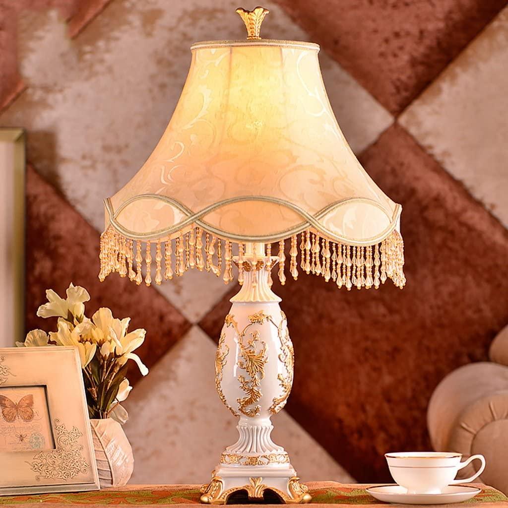 MILUCE European Table Lamp Creative Simple Hotel Living Room Decorative Lamps Bedroom Bedside Lamp