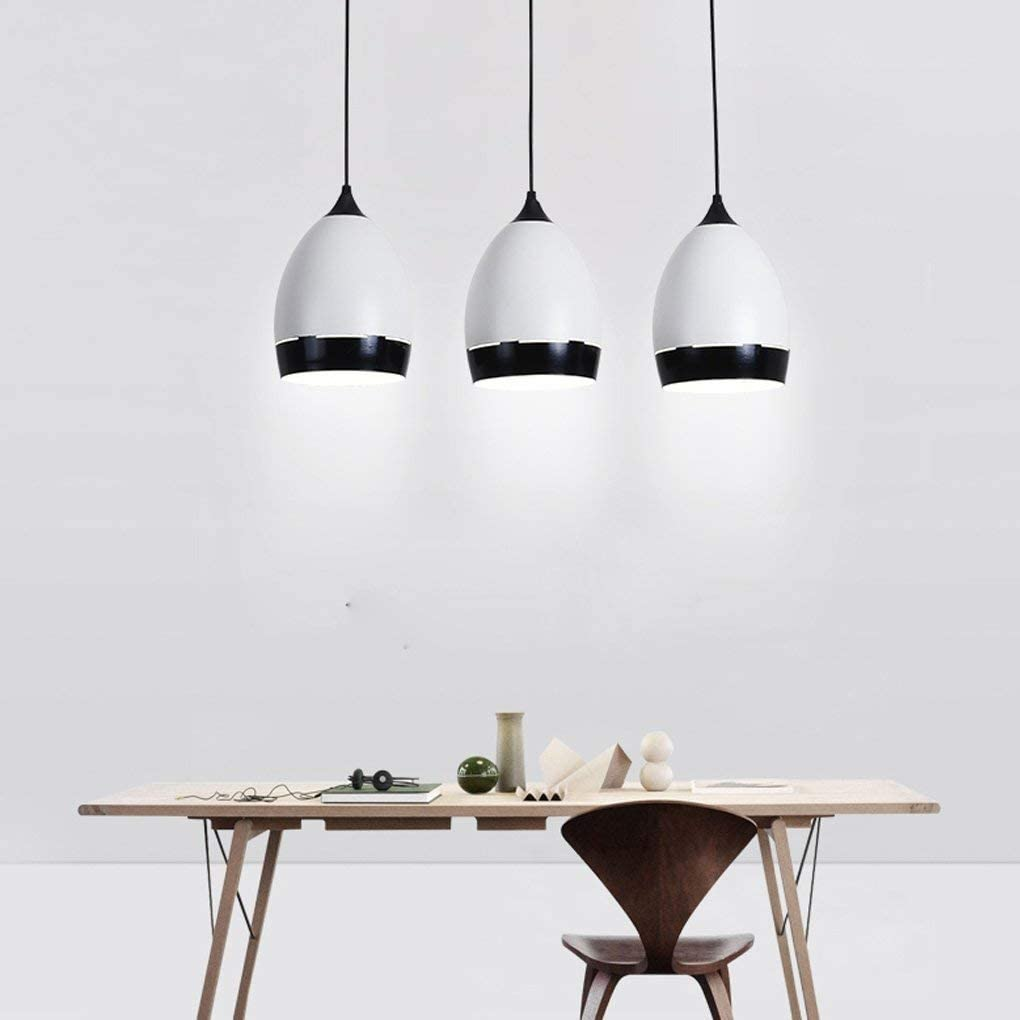 BOSSLV Pendent Lamp Modern Led Minimalism Parlor Dining Hall Bedchamber Study Office Chandelier Creative White Hanging Lamp Acrylic Metal Decorative Ceiling Lighting 315Cm White Light 18W