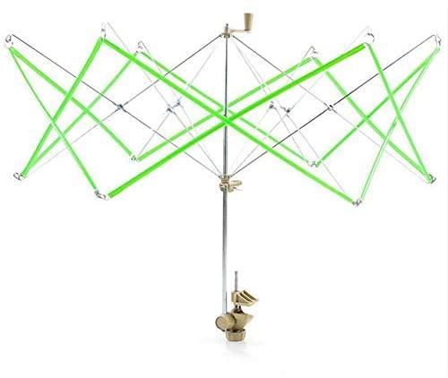 ShineBear Plastic Umbrella Swift Yarn/Fiber/String/Wool Winder Holder Green 65x48cm,1 Piece hot Selling
