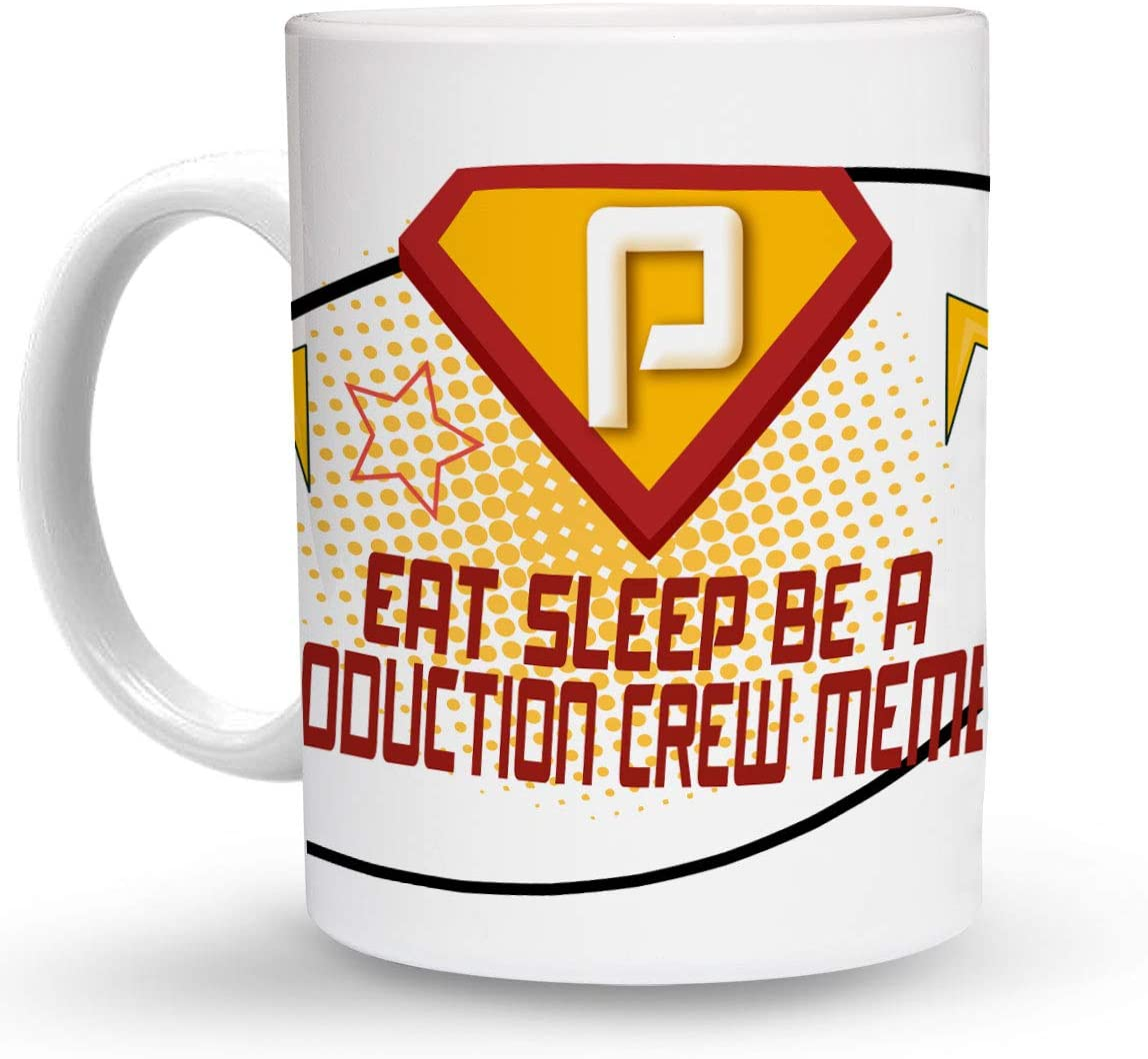 Makoroni - EAT SLEEP BE A PRODUCTION CREW MEMBER Career 6 oz Ceramic Espresso Shot Mug/Cup Design#21