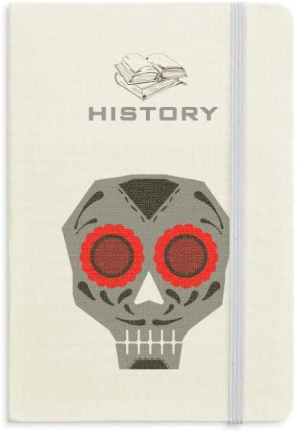 Red Eyes Skull Mexico National Culture Illustration History Notebook Classic Journal Diary A5