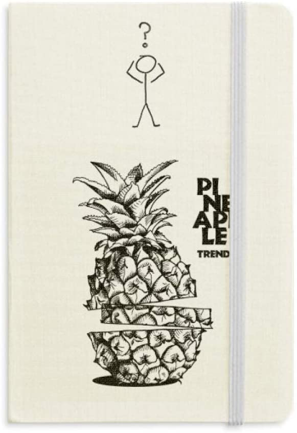 Pineapple Trend Fruit Line Drawing Question Notebook Classic Journal Diary A5