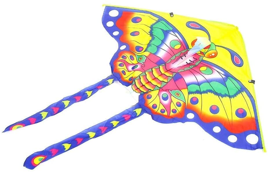 LILIANG Kite, Kids Kite Fun Kites for Kids Easy to Fly with Outdoor Sports Triangle Butterfly Kite Breeze (Color : Color)