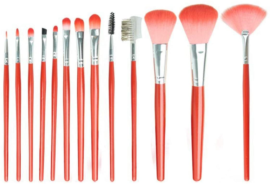 zZZ ZXZ 12 Pcs Makeup Brush Set Eye Shadow Brush Blush Brush Loose Powder Brush Girl Heart Makeup Tools Full Storage Bag for Facial Contours, Slow Release, Not Easy to Agglomerate Beautiful