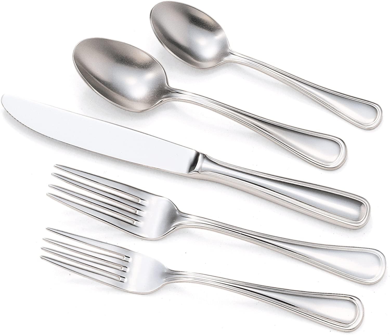 Utica Cutlery Lisbon 40 Piece Flatware Set, Stainless