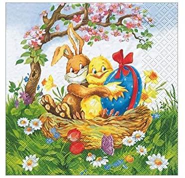 Easter Decorations Paper Napkins Decorative Disposable Table Decor Pak 40 6.5