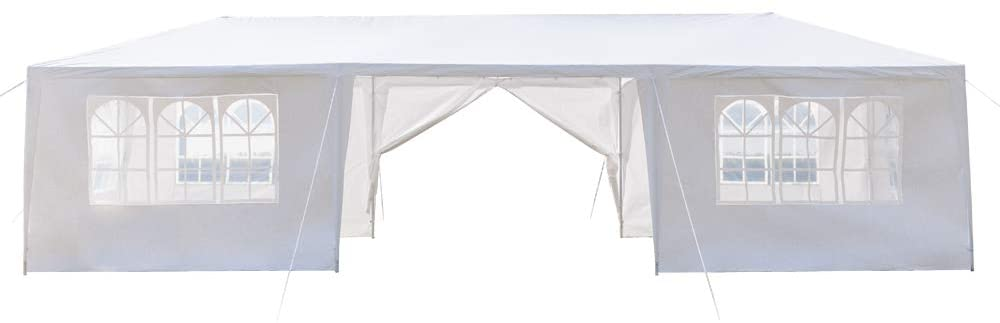 Eight Sides Two Doors Easy Pop Up Canopy Party Tent, 10 x 30-Feet, Outdoor Camping Waterproof Spiral Tubes