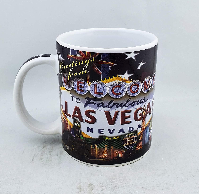 Las Vegas Sign Souvenir 11-Ounce Coffee Mug. Great For Home Work and Travel (Las Vegas - Nevada)