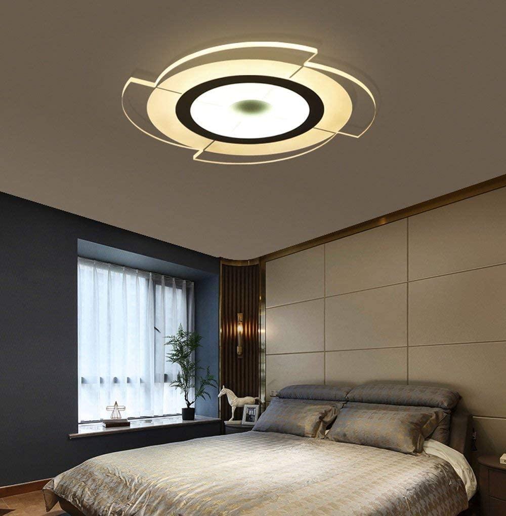 BOSSLV Ceiling Lamp Modern Minimalist Bedchamber Lamp Parlor Ceiling Lamp Lighting Restaurant Study Iron Acrylic Remote Control Lamp 52 cm