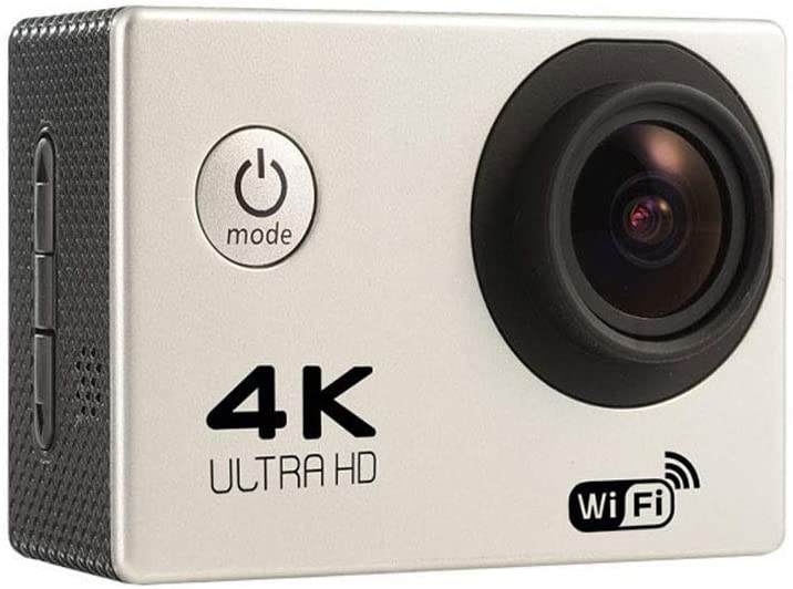 Zhengtufuzhuang 4K Sports DV, White Intelligent High Definition Outdoor Waterproof Camera, 2.0 Inch LCD Screen, WiFi, 30m Waterproof, Size 57x40x23mm Transparent Fiber (Color : White)