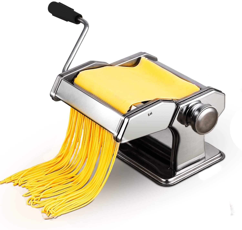 Pasta Maker Machine Home Kitchen Stainless Steel Hand Crank Pasta Cutter Roller Machine Dough Fresh Noodle Making Cutter Machine