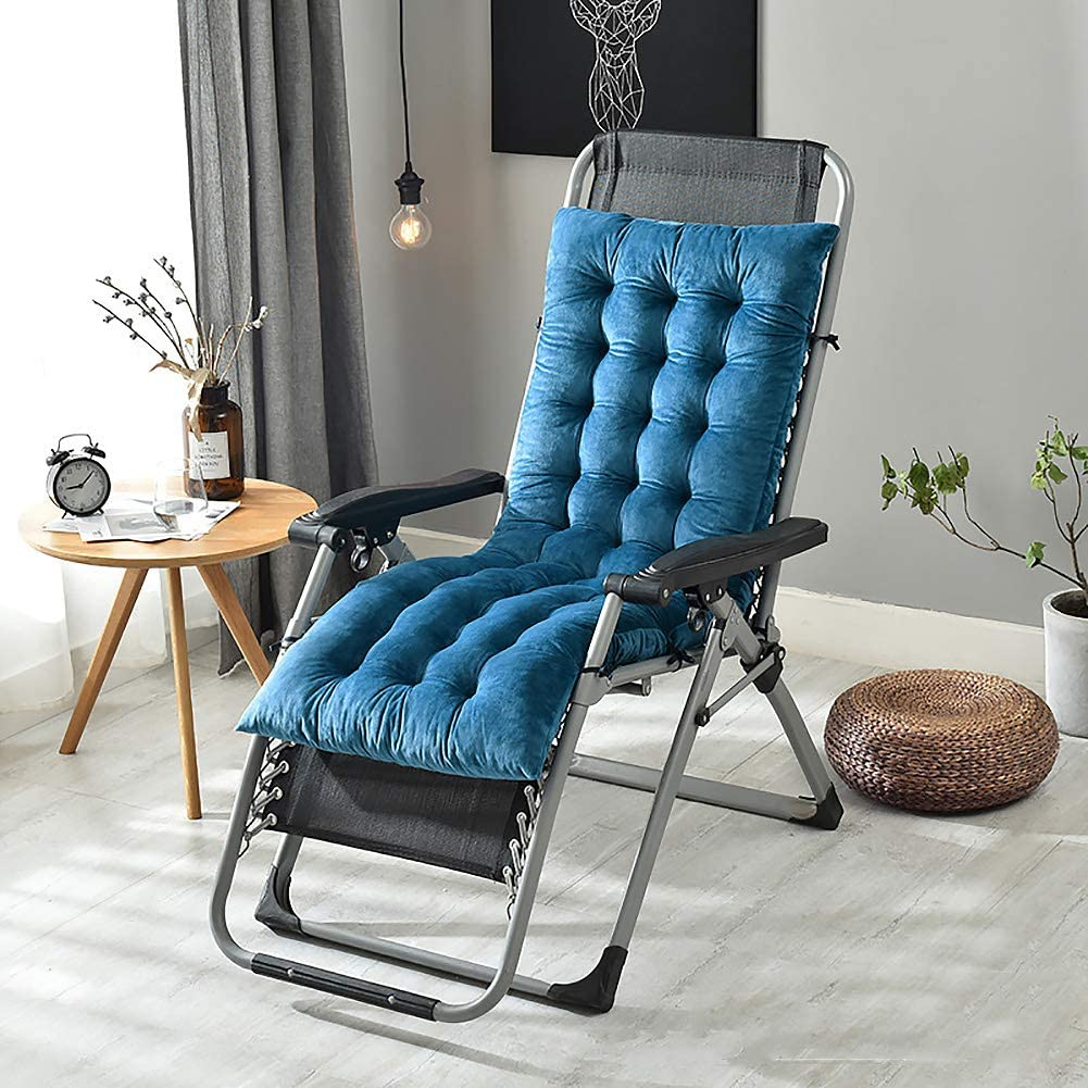 Not-Slip Rocking Chair Cushions,Thicken Reversible Bench Cushion,Cozy Sofa Window Sill Floor Seat Pad,Home Indoor Outdoor Balcony Blue 130x50x10cm(51x20x4inch)