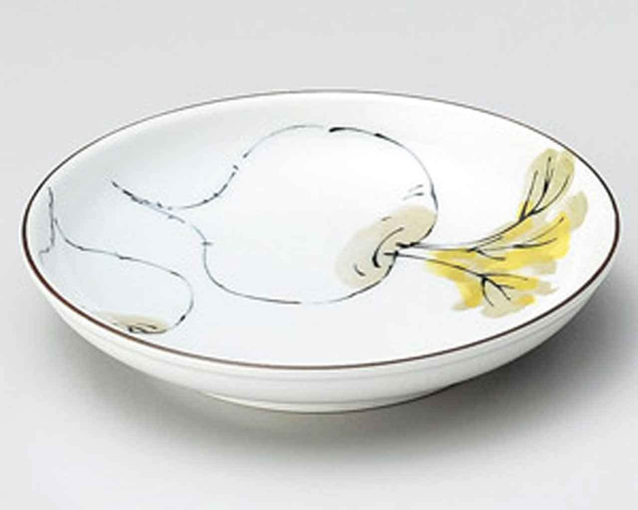 Turnip Sometsuke 6.5inch Small Plate White porcelain Made in Japan